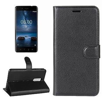 Fundas y Estuches para teléfonos móviles, Nokia 8 Litchi Texture ...