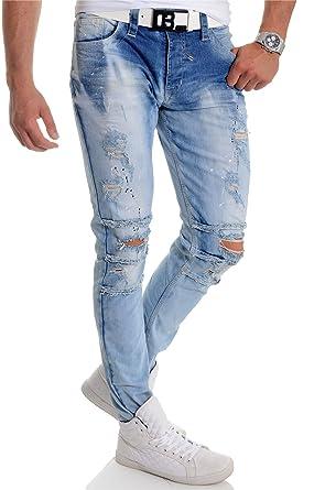 Pantalones Vaqueros Cipo & Baxx para Hombre Afligido Lavado ...