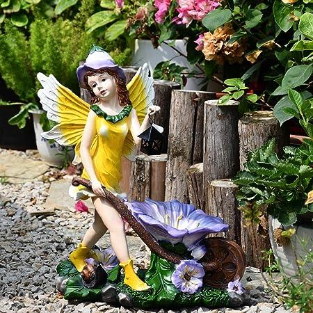 Jardín al aire Libre del Ornamento Decorativo Decoración Creativa Europea Jardín Hada Linda Ornamento De Flores