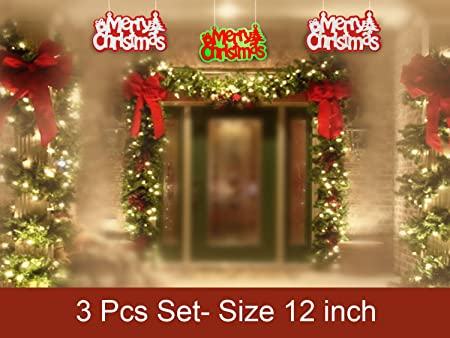 unique merry christmas wall hanging colorful christmas wall decorations hanging gifts living room bedroom windows