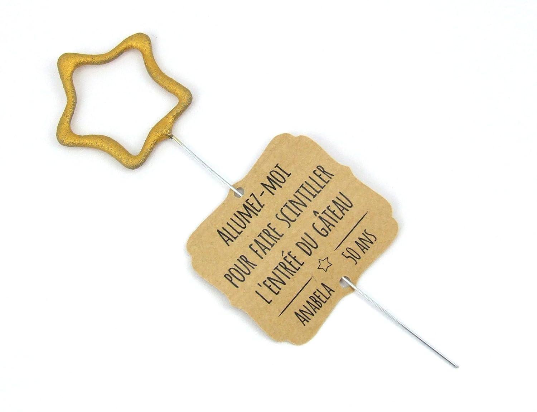 10 étiquettes personnalisables pour cierges magiques scintillants