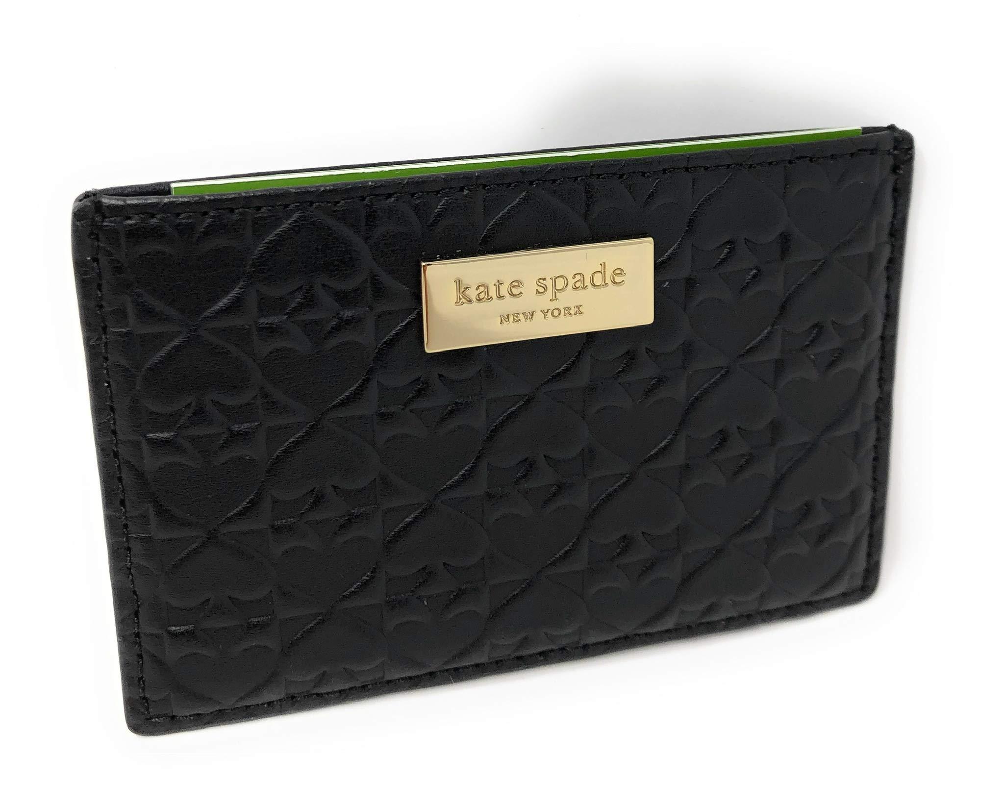Kate Spade New York Penn Place Embossed Graham Card Case Wallet WLRU4864 (Black)