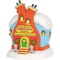 Department 56 Dr. Seuss The Grinch Village Flue Who's Fireplace Place Lit Building, 8.5 Inch, Multicolor