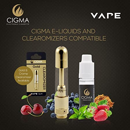 Cigma Vape Clearomizer para Slim batería | Rellenable Clearomizer | Oro