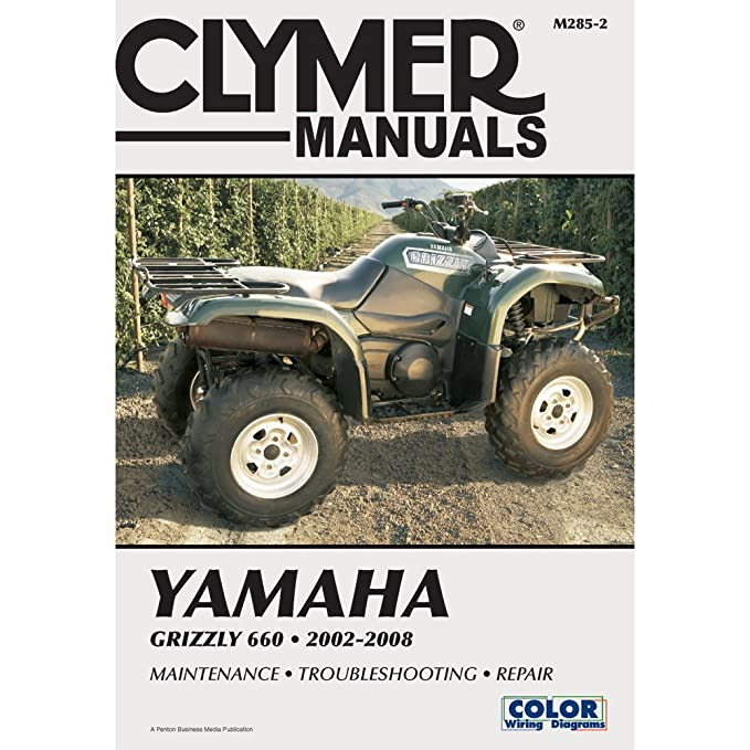 amazon com: 2002-2008 yamaha yfm660 grizzly service manual - yamaha grizzly,  manufacturer: clymer, manufacturer part number: m285-2-ad, stock photo -  actual