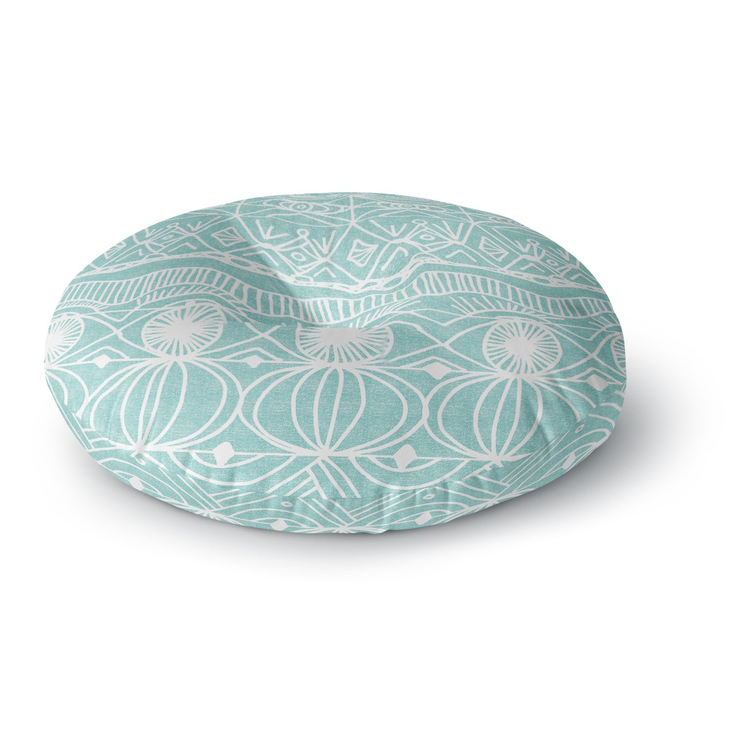 KESS InHouse Catherine Holcombe Beach Blanket Bingo Round Floor Pillow by Kess InHouse