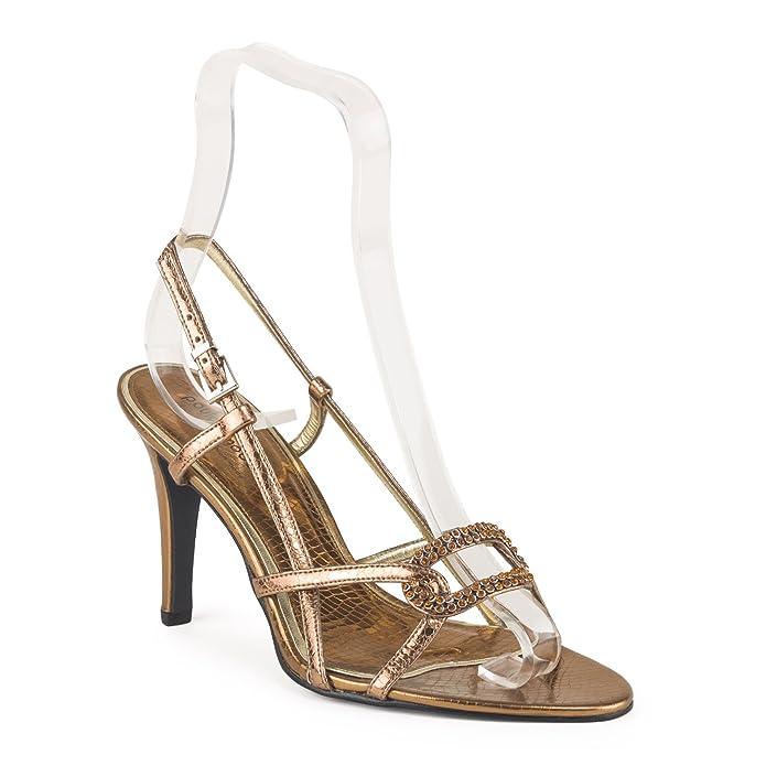FARFALLA lusso scarpe, Marrone (Bronze), 36.5