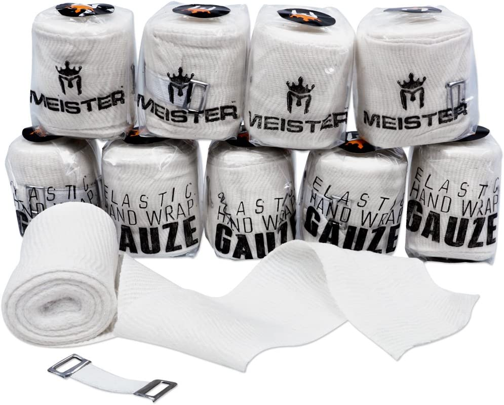 MEISTER ELASTIC GAUZE HAND WRAPS MEXICAN STYLE 10 PACK Boxing MMA Muay Thai