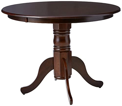 Brannan Round Single Pedestal Dining Table Cappuccino