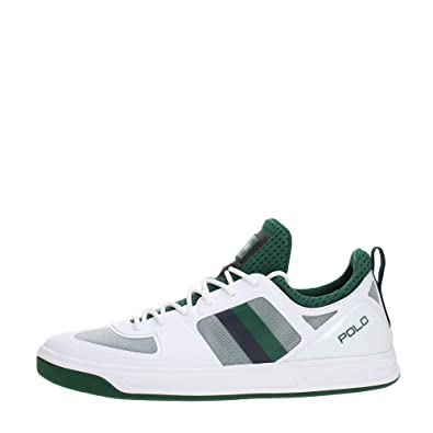 Polo Ralph Lauren COURT200-SK-ATH Sneakers Homme White 40  Amazon.fr ... 6856e2acd532