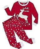 Girls Pajamas Reindeer Glow-in-The-Dark Kids Pjs
