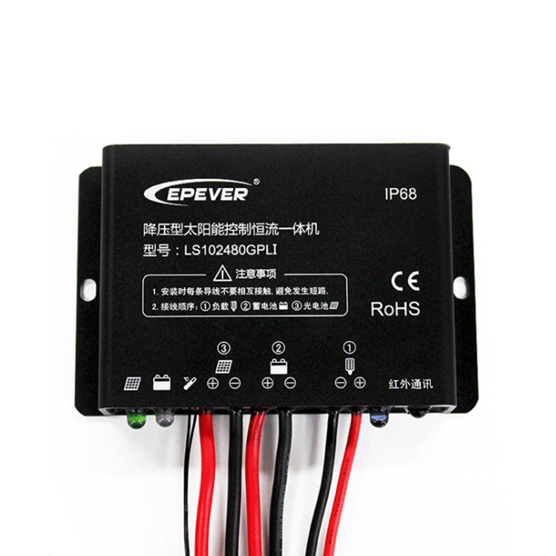 Dig Dog Bone LS102480GPLI LS2024100GPLI 10A 20A 12V 24V Solar charger controller Street light lamp IP67 (Style : LS102480GPLI)