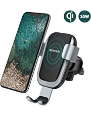 steanum Qi Handy Halterung für Auto,Induktions Autohalterung Air Vent Phone Holder Kompatibel für iPhone XS Max/Xs/Xr/X/8/8Plus,Samsung Note 5/8, Galaxy S9/S8//S7/S6, Schwarz