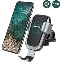 steanum Qi Handy Halterung für Auto,Induktions Autohalterung Air Vent Phone Holder für iPhone XS Max,iPhone XS,iPhone Xr,iPhone X,iPhone 8/8Plus,Samsung Note 5/8, Galaxy S9/S8//S7/S6, Schwarz