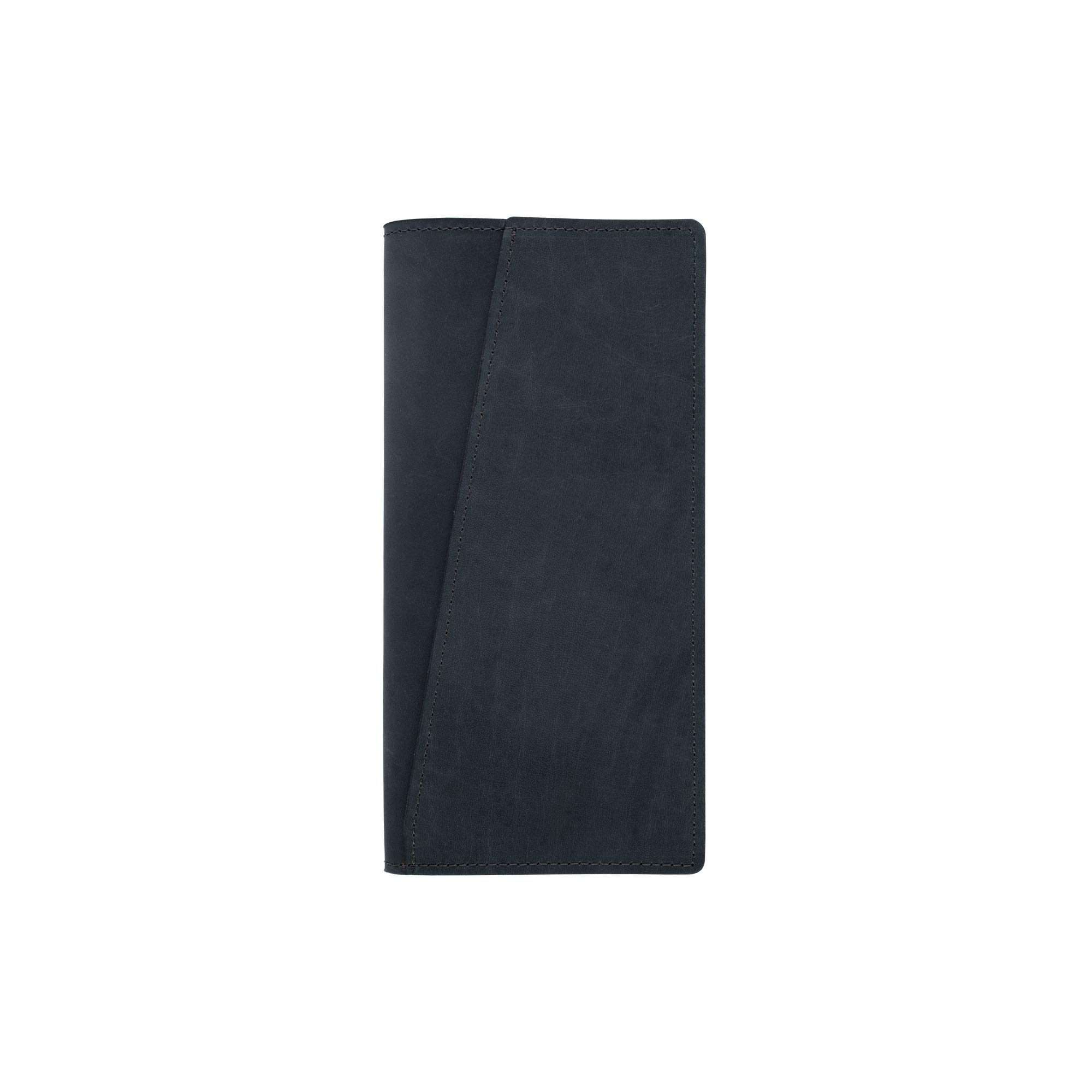 SLATE COLLECTION Lakeway Travel Wallet, Full-grain Leather (Indigo)