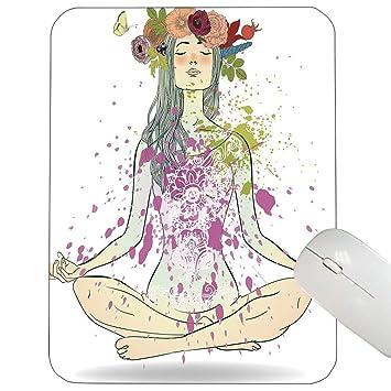 Soporte para Yoga Cojín de ratón Chica con Corona Floral ...