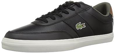 3fb0bb955 Lacoste Men's Court-Master Sneaker, Black/Brown Leather, 7 Medium US