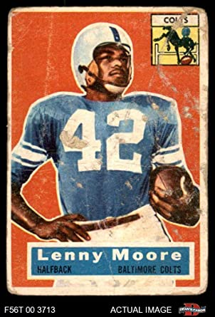 card#2 Lenny Moore of the Baltimore Colts Grade Very Good Football 1962 Topps Regular