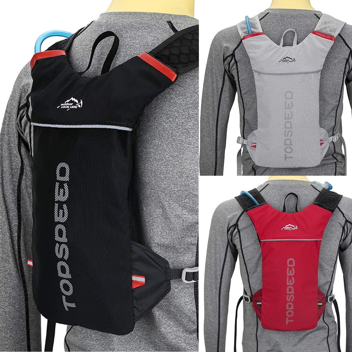 Nosii 5L Outdoor Hydration Zaino Donna Uomo Jogging Sport Zaino da Trail Running Marathon Bag Color : Red