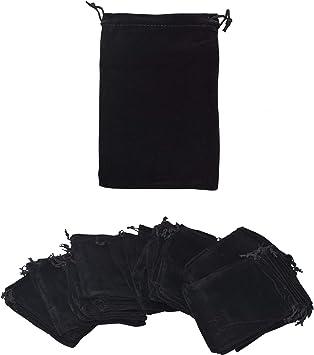 Mandala Crafts Velvet Drawstring Bags for Velvet Gift Bags - Velvet Bags with Drawstrings 5x7 Inches for Packaging – Velvet Jewelry Bags 50 PCs