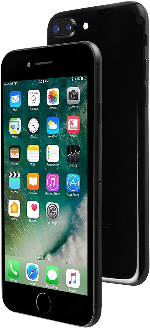 Amazon Com Apple Iphone 7 Plus 32gb Jet Black Fully Unlocked Renewed