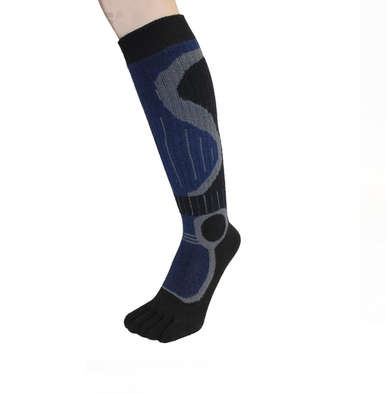 TOETOE Socken-Ski Kniehohe (EU 36-39 | UK 3-5.5,Schwarz & Blau)