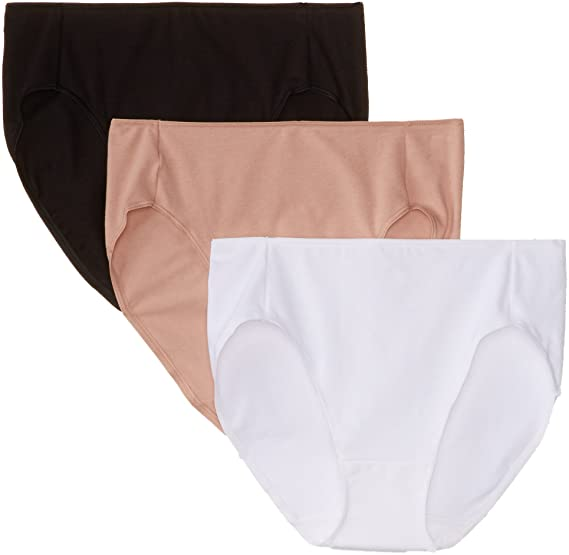 19d024e5dadd Hanes Women's Smoothing High-Cut Panties 3-Pack at Amazon Women's ...