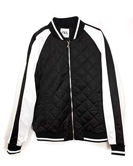 99281a74 Zara Men's Quilted Bomber Jacket 0706/432 Black: Amazon.co.uk: Clothing