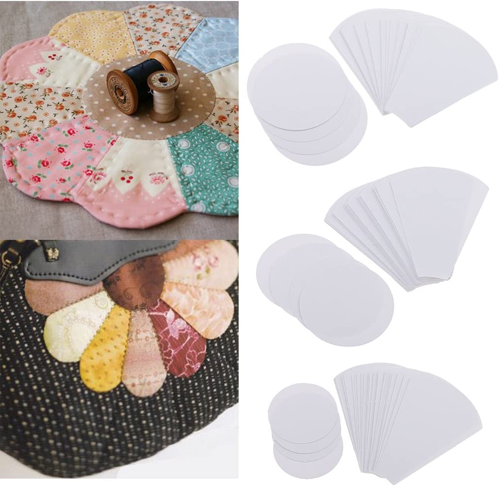 lahomia 120pcs Flower Paper Quilting Template Paper Piecing Patchwork