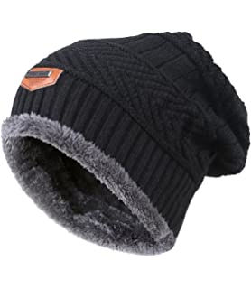 317171e400e MIEDEON Men s Winter Knitting Skull Cap Wool Warm Slouchy Beanie Hat