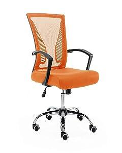 Modern Home BKORANGE Zuna Mid - Back Office Chair, Black/Orange