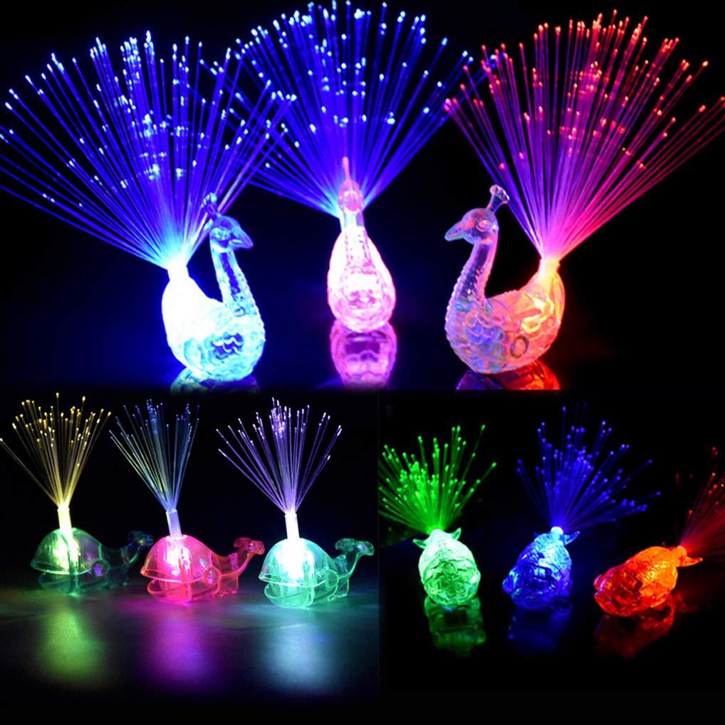Dsar Party Favor for Kids, 16 Pcs Finger Lights Colorful LED Flashing Toys for Birthday, Wedding Concent, Best Gift