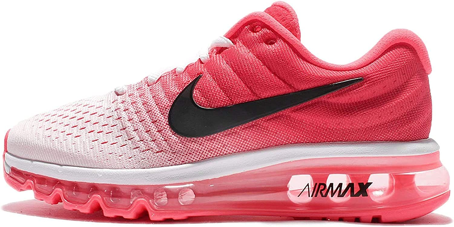 Nike WMNS Air Max 2017, Chaussures de Course Femme Rot (White/black/hot Punch)