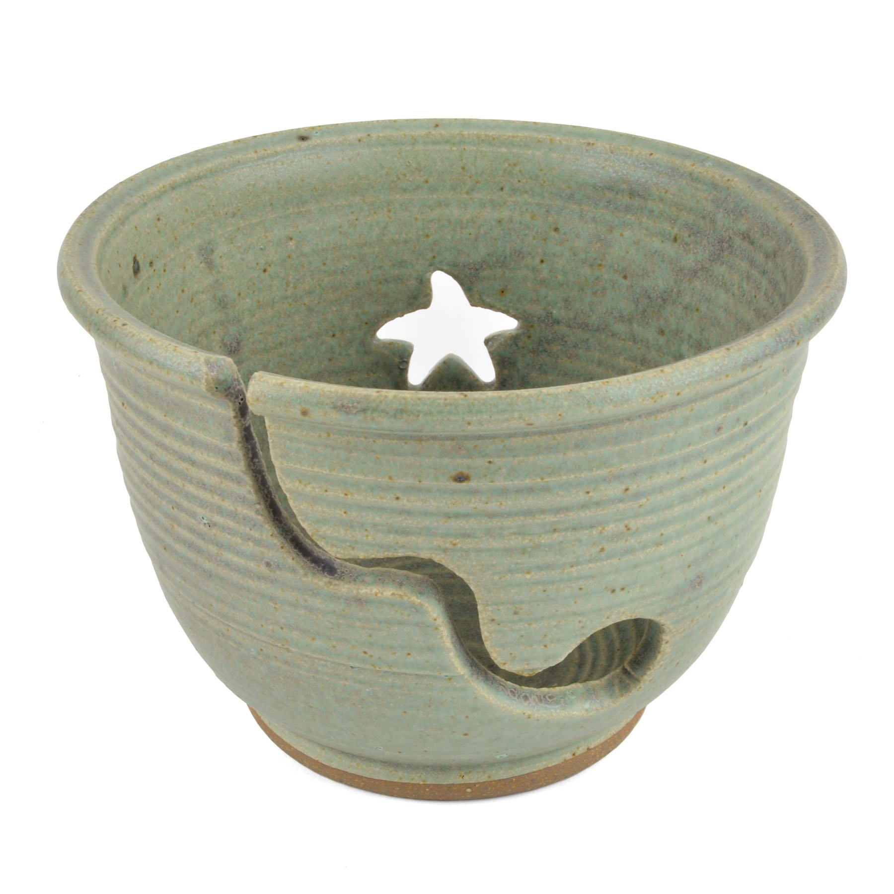 The Potters, LTD Yarn Bowl, Soft Green