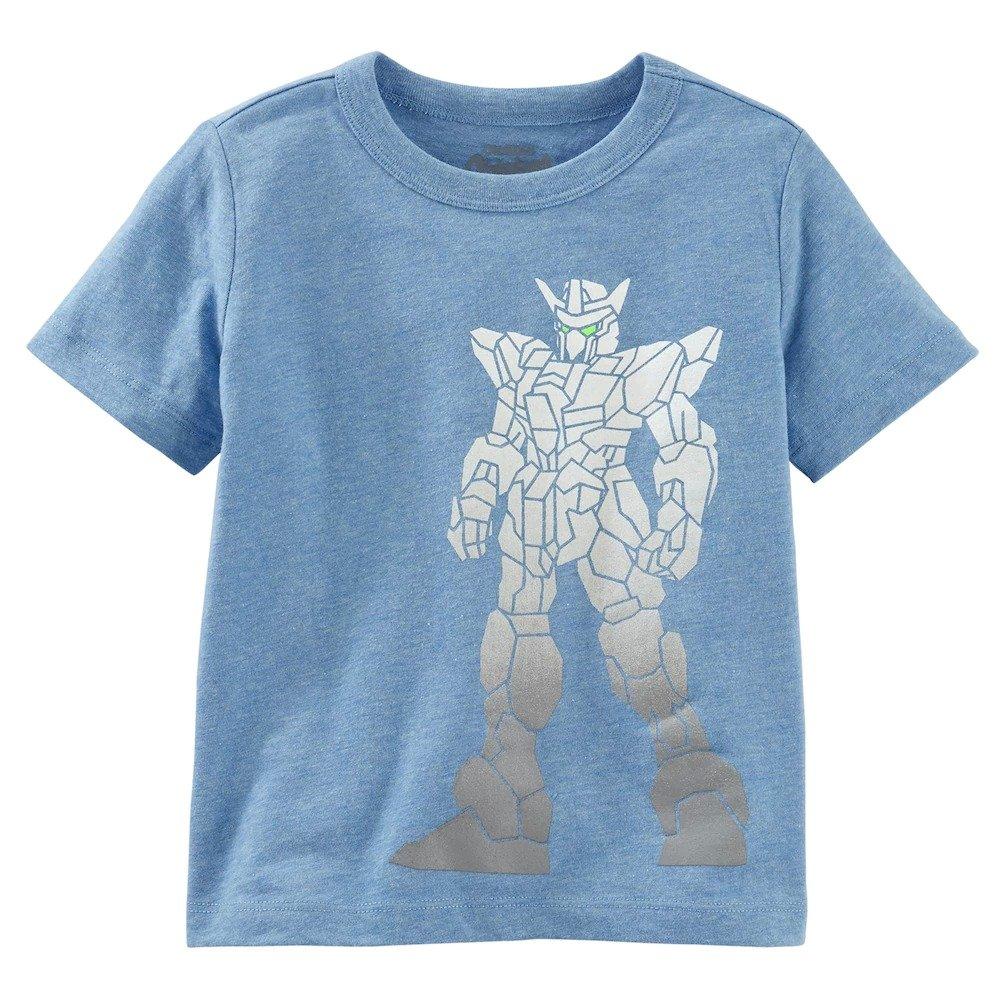 9-12m OshKosh Boys Foiled Robot Graphic Tee Blue
