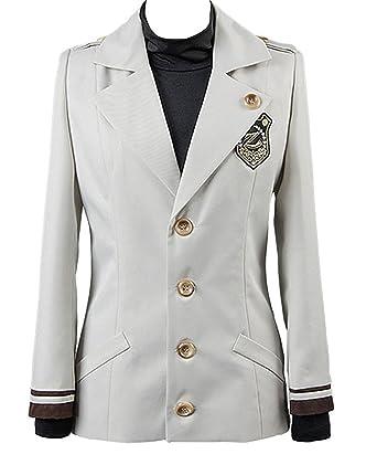 ZYHCOS Unisex School Uniform Grey Coat Black High Collar T-Shirt Cosplay  Costume (Womens ac5c6b800