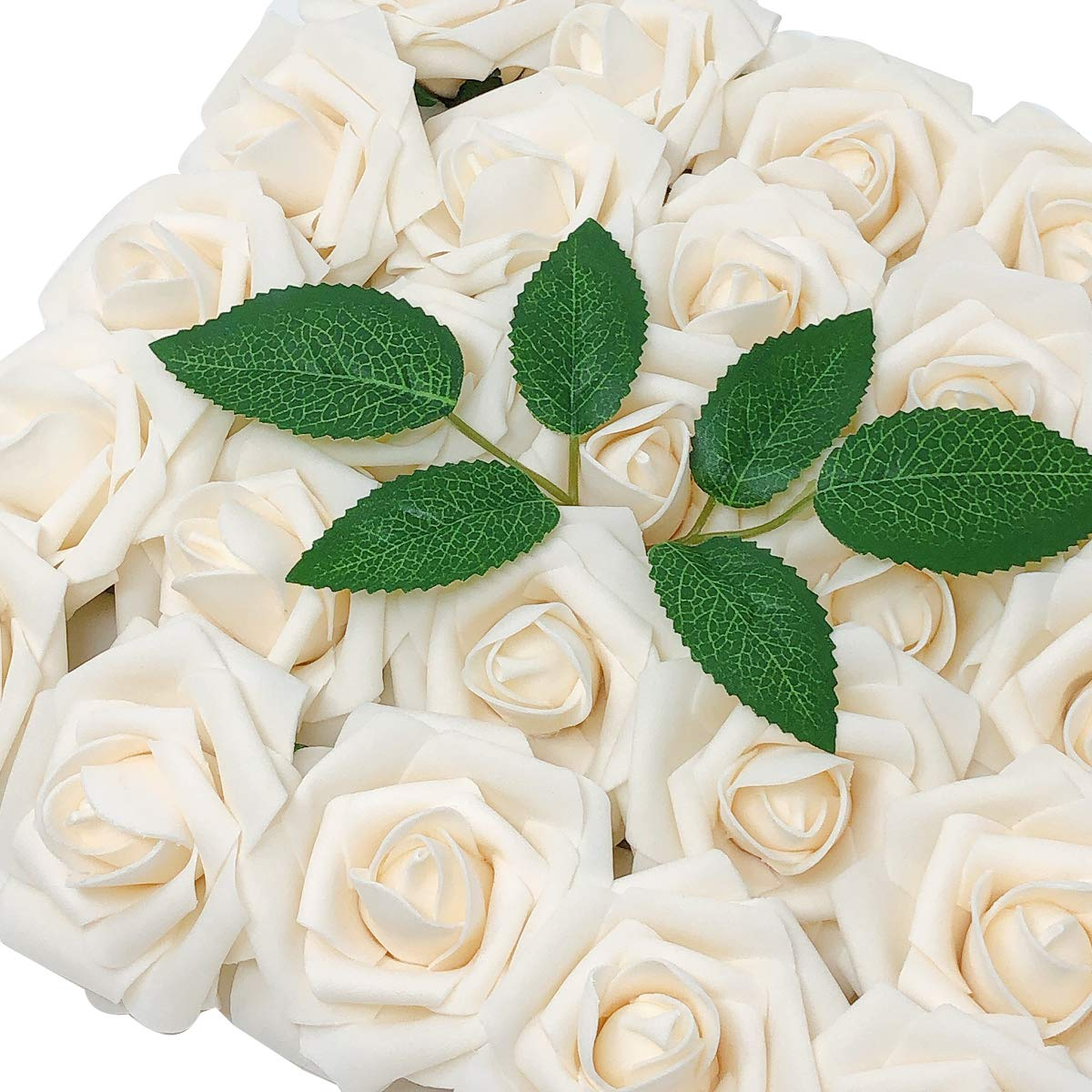 Wrapables Rose, Real Touch DIY Wedding Bouquets and Centerpieces, Aquamarine Artificial Flowers,