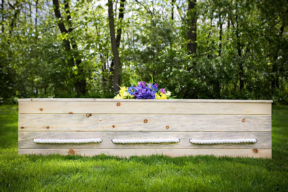 Build-Your-Own Simple Pine Casket Kit - Made from Sustainable Pine From Wisconsin's North Woods - Suitable For Any Cemetery, Natural Burial, or Cremation - Wood Casket - Wood Coffin by Northwoods Casket Company (Image #1)