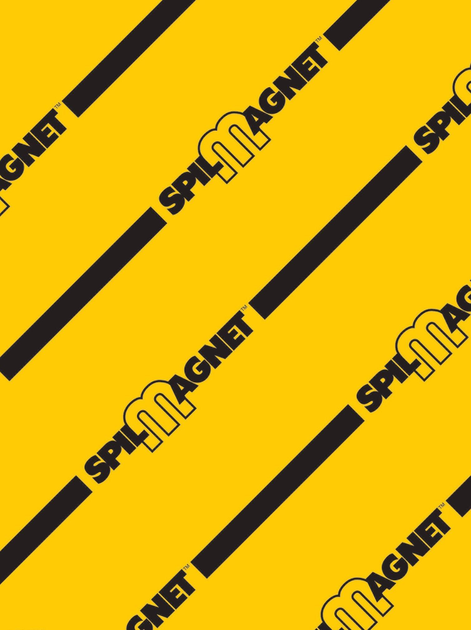 Brady 31112LS Vinyl Magnetic Drain Cover, 36'' L x 24'' W, Black/Yellow