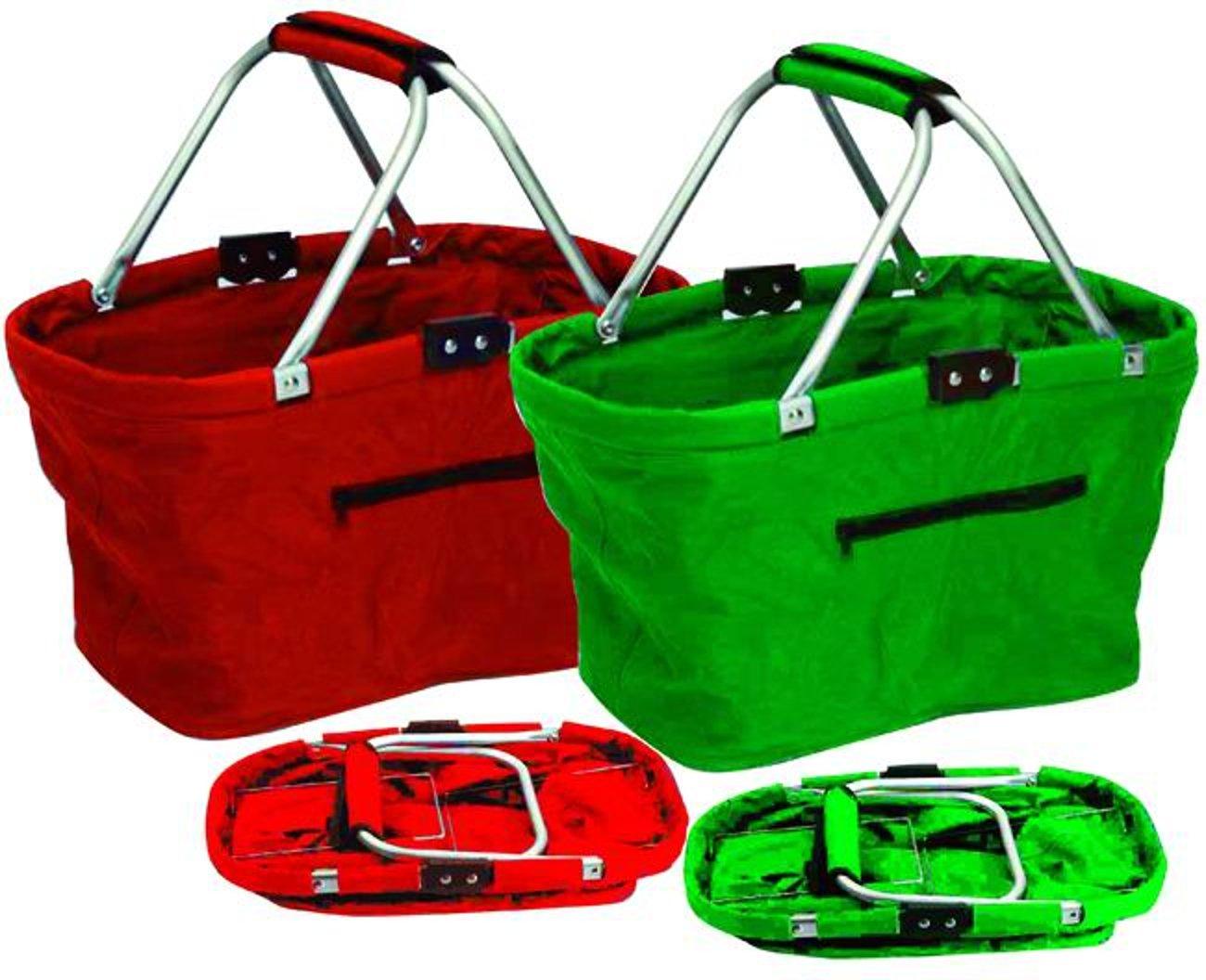 Berni 9666305 Zusammenklappbarer Einkaufskorb, Modell Baggy-Bag Sortiert.