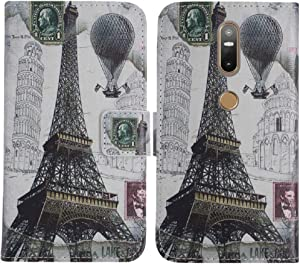 TienJueShi Eiffel Tower Book-Style Flip Leather Protector Case Cover TPU Silicone Etui Wallet for Lenovo PHAB 2 Plus 6.44 inch