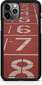 iPhone 11 Case Fits iPhone 11 Track Field Starting Line Run Sprint Hurdles 100 Yard Dash 20170 Black Rubber by TYD Designs