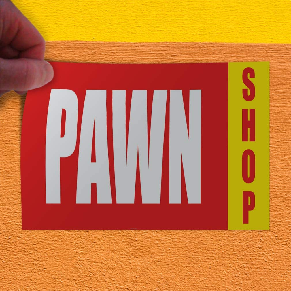 One Sticker Decal Sticker Multiple Sizes Pawn Shop Now Open Red Yellow Business Pawn Shop Outdoor Store Sign Red 69inx46in