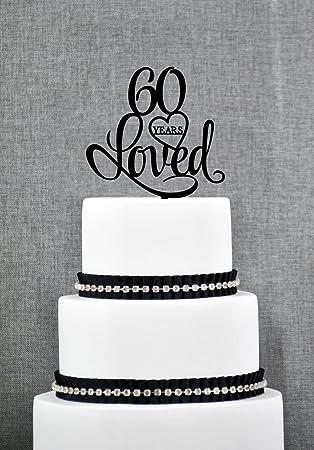 60 Ans Loved Gâteau Danniversaire élégant 60 Ans Gâteau 60e