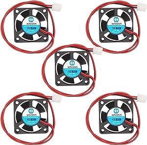 WINSINN 30mm Fan 12V Dual Ball Bearing Brushless 3010 30x10mm for Cooling 3D Printer Hotend V6 V5 - High Speed (Pack of 5Pcs)