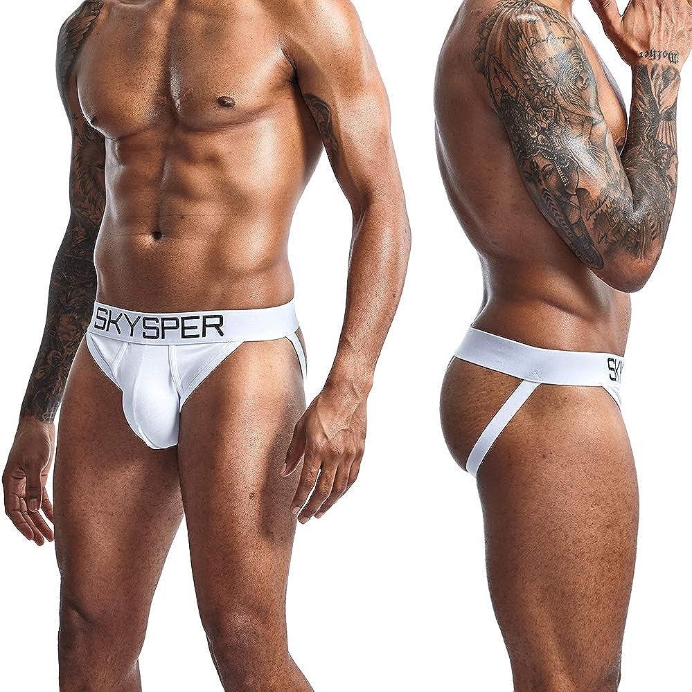 SKYSPER Jockstrap Perizoma Underwear Sospensorio Intimo Confortevole Sport Fitness Party Ciclismo Calcio ect