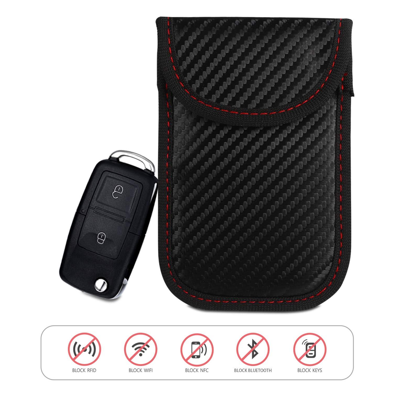 Car Key Signal Blocker Pouch, Keyless Car Key Signal Blocker | Anti-Theft  Fob Protector Pouch | Faraday Bag Key Guard | Blocks RFID/WiFi / GSM/LTE |