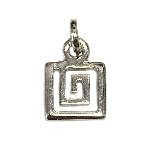 Llavero de plata de ley con espiral griega.: Amazon.es: Joyería