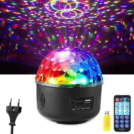 AOLVO Proyector de luz de Bola de Discoteca, Luces de Bola de DJ ...