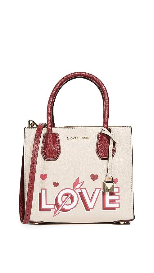 Amazon.com  MICHAEL Michael Kors Women s Mercer Messenger, Soft Pink  Mulberry, One Size  FastStork e00bd2ae34